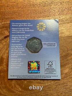 2009 Blue Peter 50p London 2012 Olympic Games Winners Edition Very Rare