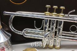 APPLE Limited Edition Bach Stradivarius PRO Trumpet w Gold Trim VERY RARE MINT