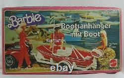 Barbie boot trailer going fishing German / European version 1979 NRFB Very Rare