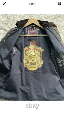 Barbour Triumph Ammeter wax jacket Limited edition jacket Small 38 vgc very rare