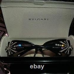 Bvlgari Frames Swarovski Crystal Limited Edition 8031-B Black VERY RARE