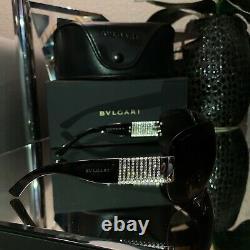 Bvlgari Sunglasses Swarovski Crystal Limited Edition 6030-B Brown VERY RARE
