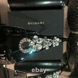 Bvlgari Sunglasses Swarovski Crystal Limited Edition 652-B Black VERY RARE