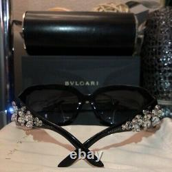 Bvlgari Sunglasses Swarovski Crystal Limited Edition 856-B Black VERY RARE
