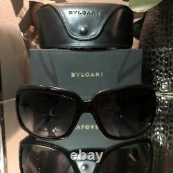 Bvlgari Sunglasses Swarovski Crystal Limited Edition 857-B Black VERY RARE