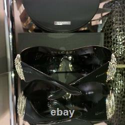 Bvlgari Sunglasses Swarovski Crystal Limited Edition Mirrored 6017-B VERY RARE