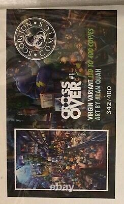 CROSSOVER #1 VERY RARE ALAN QUAH VIRGIN VARIANT SCORPION LTD 342/400 WithCOA NM+