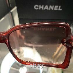 Chanel Sunglasses Limited Edition Swarovski Crystal 5065-B Rube Red VERY RARE
