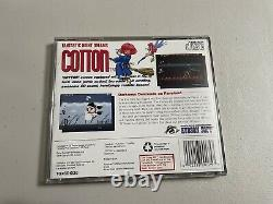 Cotton US VERSION Turbografx 16 CD Turbo Duo COMPLETE CIB Authentic VERY RARE