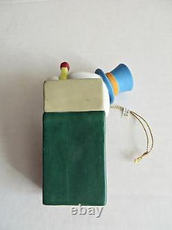 DISNEY GROLIER Gold Edition Jimmy Cricket Matchbox Christmas Ornament VERY RARE