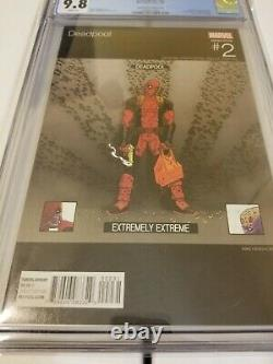 Deadpool #2 Cgc 9.8 Mike Hawthorne Variant Hip Hop Cover Very Rare 1100