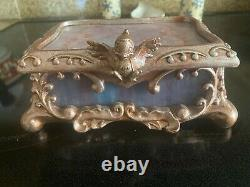 Disney Cinderella Stained Glass Jewelry Box Limited Edition VERY RARE 1500 HTF