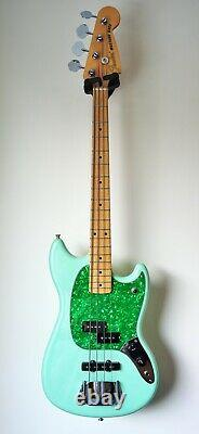 Fender Mustang PJ bass. Rare very limited edition in surf pearl. Unused and mint