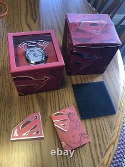 Fossil Watch Superman Urban Red LL1036 Limited Edition Very Rare! Hard to find
