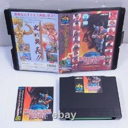 Neo Geo Aes Rom World Heroes Perfect Jp Version Very Rare! 100% Authentic