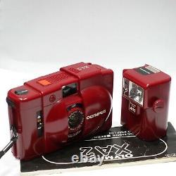 Olympus XA 2 35mm RED camera & RED A11 flash, Very Rare Colour Version XA2