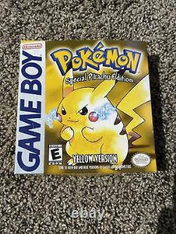 POKEMON Special Pikachu Edition Yellow Version Game Boy EMPTY BOX ONLY Very Rare