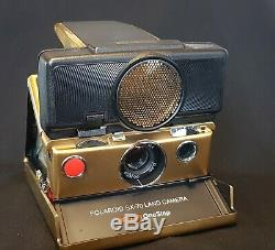 Polaroid SX-70 Sonar model, gold version (very rare) boxed new fully working