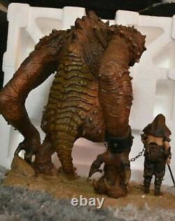 STAR WARS GENTLE GIANT LIMITED EDITION RANCOR STATUE with Handler VERY RARE ROTJ