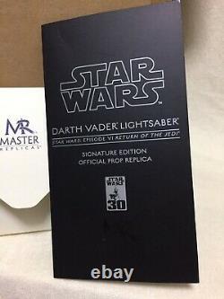 STAR WARS Master Replicas Darth Vader Signature Edition Episode EP 6 Very Rare
