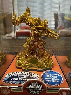 Skylanders Gold Fire Kraken 2013 Dev Team Edition Very RARE VHTF