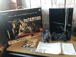 Sony PS3 80GB Console Infamous Edition Boxed Rare Very Good