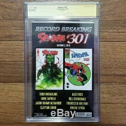 Spawn 300 Sketch Miscut Error Edition CGC 9.8 Todd Mcfarlane signed VERY RARE