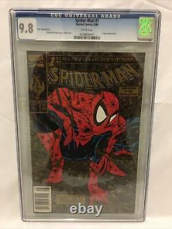 Spider-Man #1 CGC 9.8 white pages 1990 UPC gold edition. Very Rare Limited Print