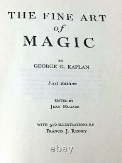 THE FINE ART OF MAGIC 1ST EDITION & 1ST PRINTING (1948) / Very Rare Magic Book
