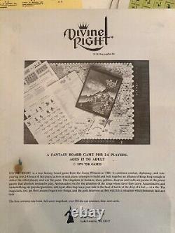 TSR Fantasy Board Game DIVINE RIGHT (VERY RARE 1ST EDITION). Unused