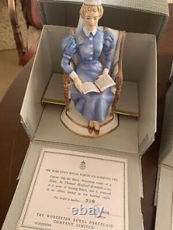 VERY RARE AND COLLECTABLE Royal Worcester'Sister' figurines limited edition