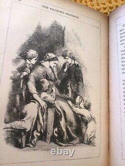 VERY RARE ANTIQUE ILLUSTRATED EDITION, John Bunyan The Pilgrims Progress