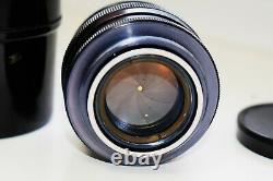 VERY RARE JUPITER-3 Black Edition 50mm f/1.5 Soviet rangefinder lens M39 mount