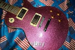 Very Rare Epiphone Les Paul In Pink Glitter Sparkle Ltd Edition Collectable 1997