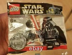 Very Rare Lego Chrome Limited Edition Star Wars DARTH VADER Figure New Sealed