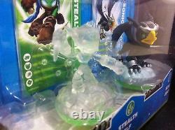 Very Rare Skylanders Crystal Clear Stealth Elf Variant 3-Pack VHTF