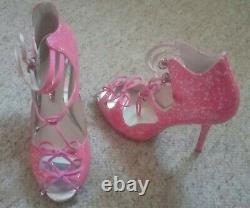 Very rare limited edition neon pink glitter Sophia Webster heels 40 7 vgc