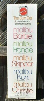 Vintage Pj Sunset Malibu Barbie #1187 Nrfb Very Rare White Box 1967 Edition