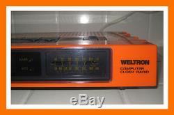 WELTRON COMPUTER CLOCK RADIO Vintage 1960/1970s ORANGE COLOR VERSION VERY RARE