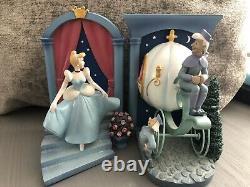 Walt Disney Cinderella Carriage Bookends/Figurines. Limited Edition. Very Rare