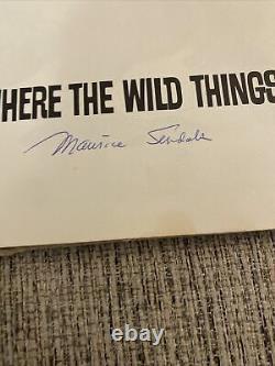 1963 Où Les Choses Sauvages Sont 1ère Édition Signée Par Maurice Sendak, Très Rare
