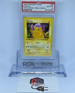 1999 1ère Édition Pokémon Pikachu Red Joues Psa 10 (très Rare)