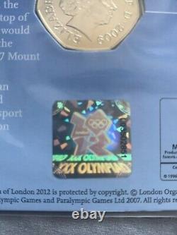 2009 Bleu Peter 50p Londres 2012 Jeux Olympiques Gagnants Edition Très Rare