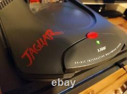 Atari Jaguar Français Version, Pas De Port Rf, Modèle Très Rare + Contrôleur + Psu