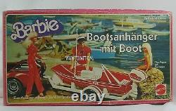 Barbie Botte Remorque Aller Pêche Version Allemande / Européenne 1979 Nrfb Très Rare