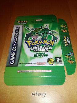 Boîte D'affichage De Version Emerald Pokemon Nintendo Gba Brand New Very Rare