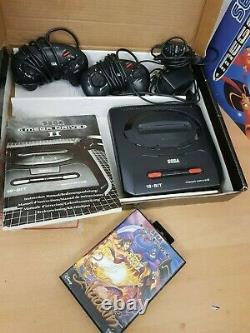 Boxed Sega Mega Drive II Disney Aladdin Édition Limitée Console Très Rare