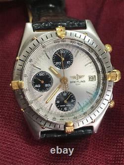 Breitling Chronomat Acciaio Oro Quadrante Panda 40mm, Version Très Rare, Entra