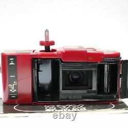 Caméra Rouge Olympus Xa 2 35mm Et Flash Rouge A11, Version Couleur Très Rare Xa2