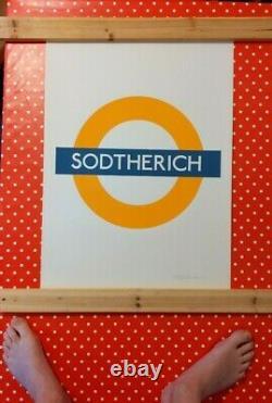 Chu Sodtherich Ltd Edition Tres Rare Banksy Eine Stik